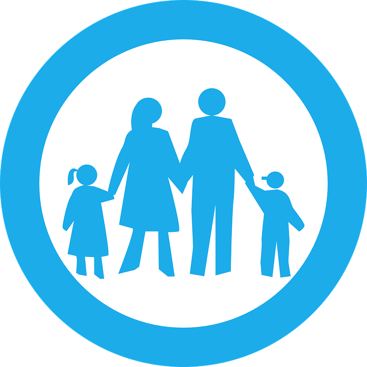 family blue circle